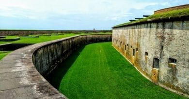 Located in Atlantic Beach NC, this is the civil war fort at Forth Macon park