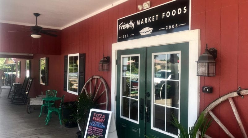 The Friendly Market in Morehead City NC offers fresh produce, shrubbery, and other amenities.