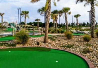 Putt Putt mini Golf in Atlantic Beach NC town park