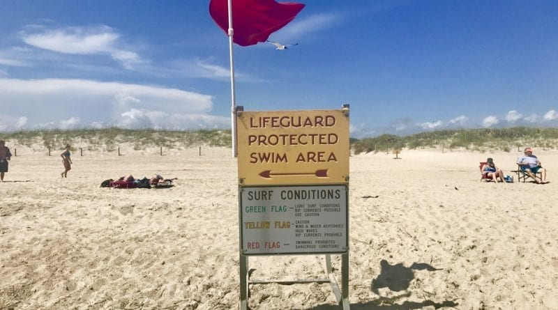 Red Flag Warning Rip Currents