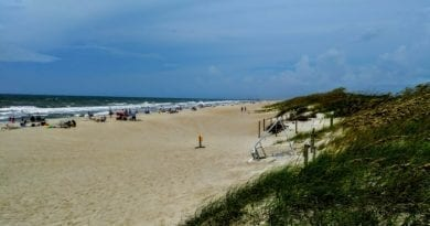 Video showing sand dunes of the Crystal Coast in NC