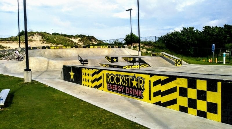 Skateboard Park in Atlantic Beach NC town park