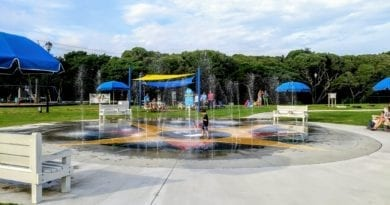 The Splash Pad in Atlantic Beach NC Town Park
