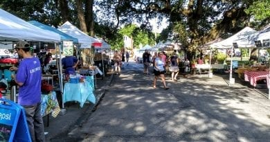 Located at the courthouse, the Beaufort Farmers Market is each Saturday in NC