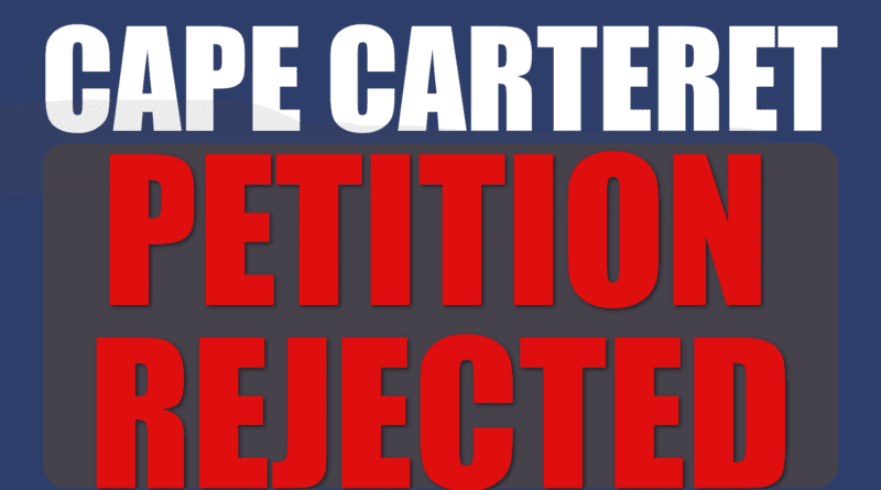 Cape Carteret board rejects a petition to change the form of government in the town