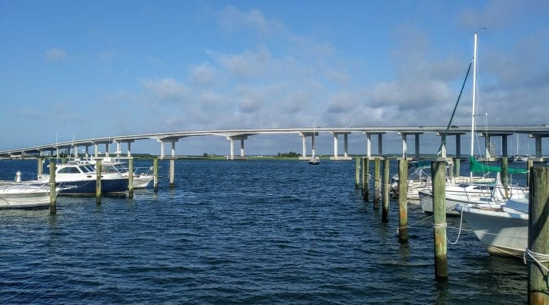 New Gallants Channel Bridge in Beaufort NC