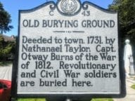 The Old Burying Ground cemetery in Beaufort NC