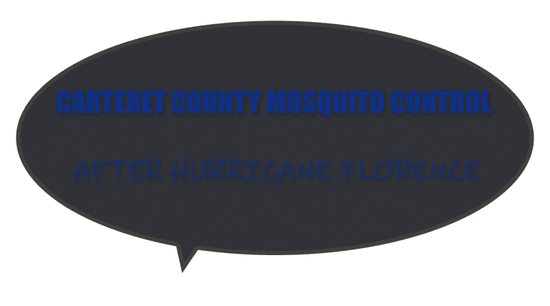 Aerial mosquito control after hurricane florence in Carteret County NC