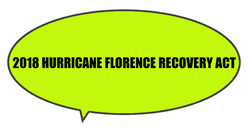disaster recovery by NC Legislature act hurricane florence