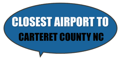 Carteret County closest airport NC