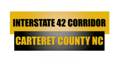 Business growth from Interstate 42 in Carteret County NC