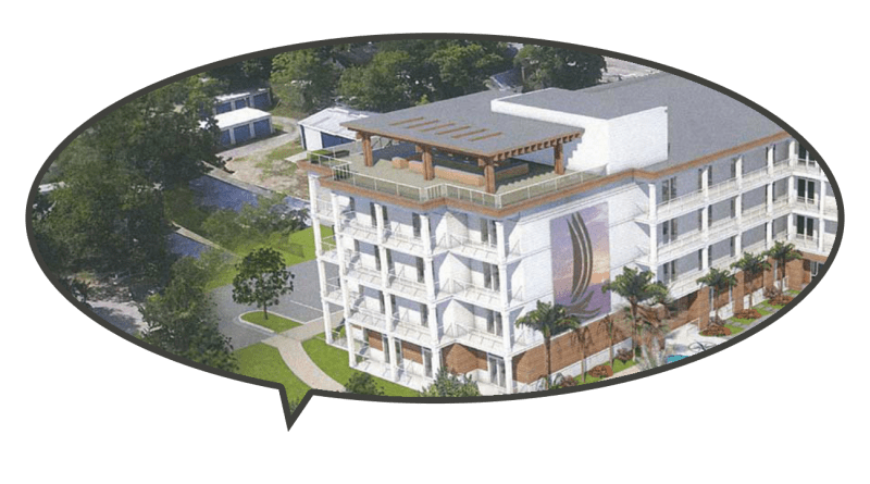 Public rendering of Compass Hotel in Beaufort NC