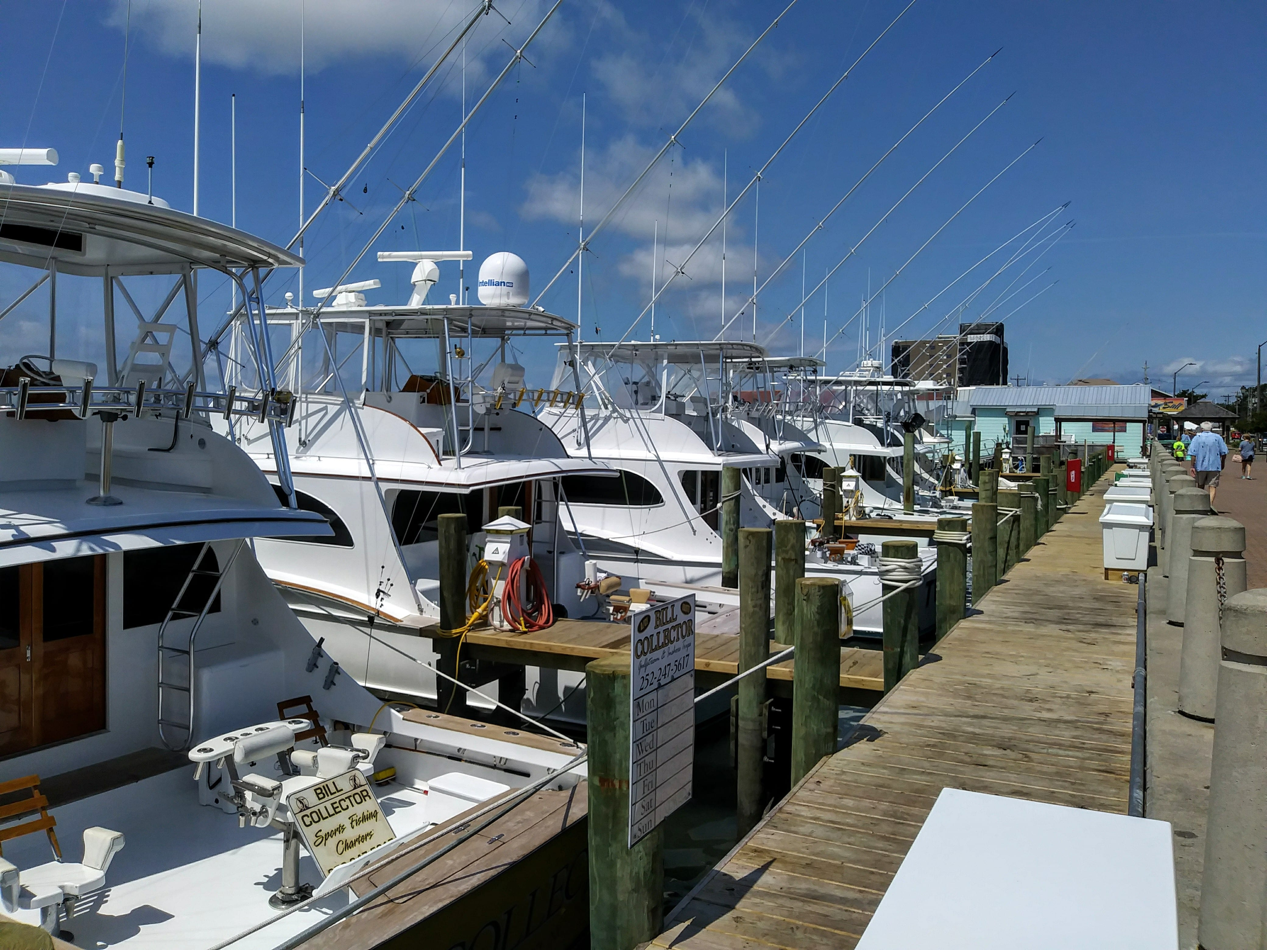 Charter boats ready for fishing