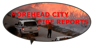 News report of fire in Morehead City NC