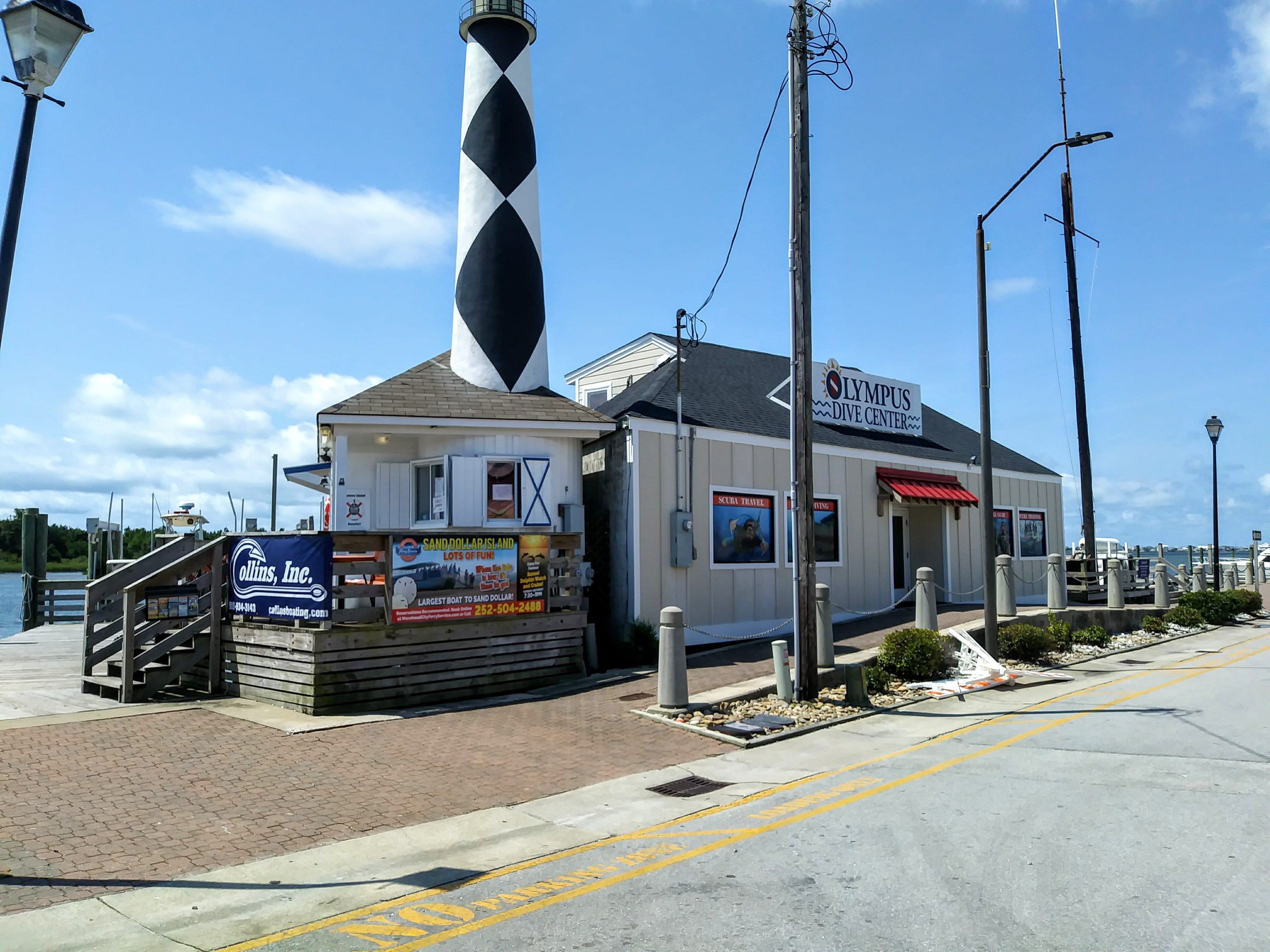 Olympus dive shop lighthouse