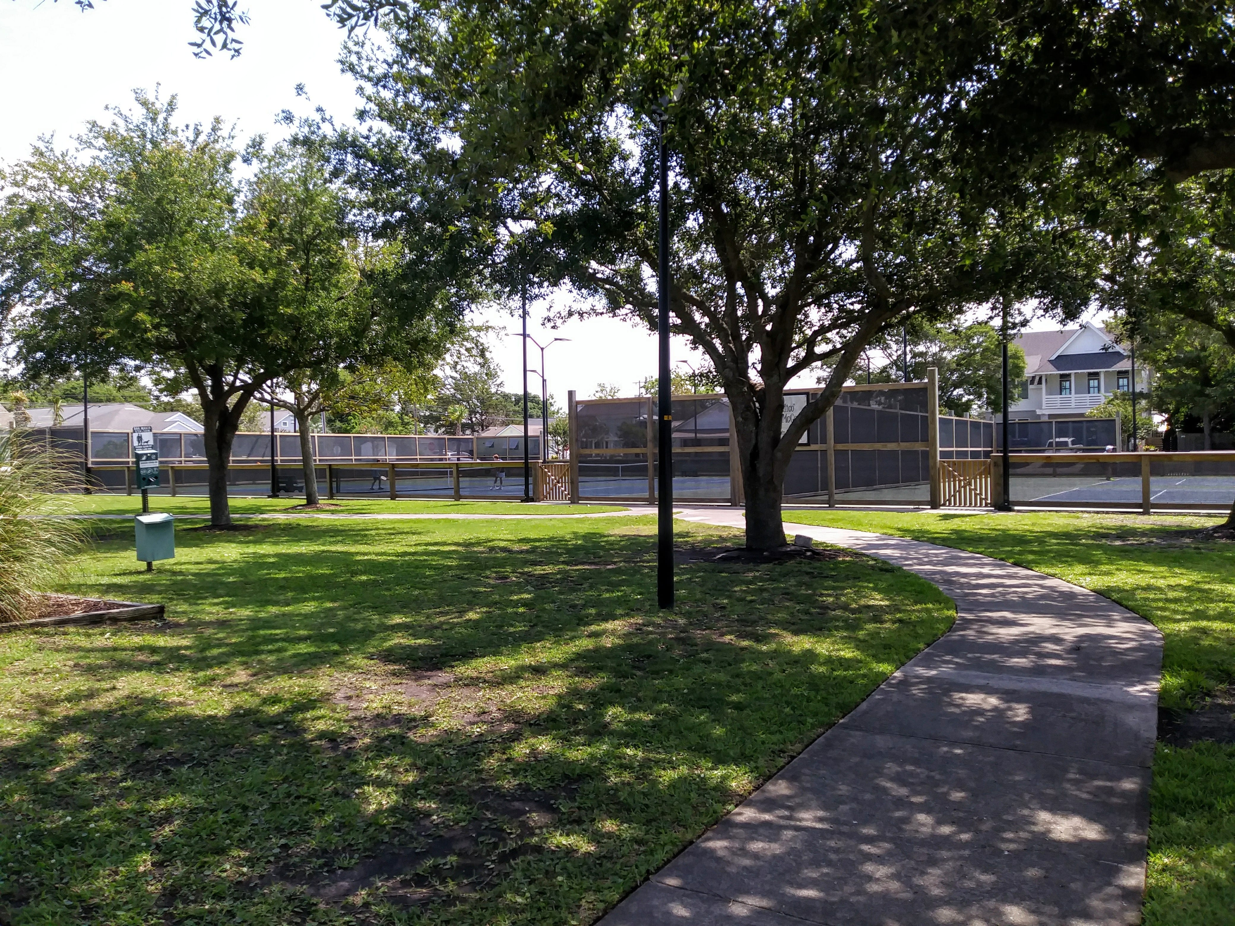 Tennis courts at Swinson Park