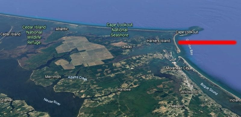 Carteret how to get there Shackleford