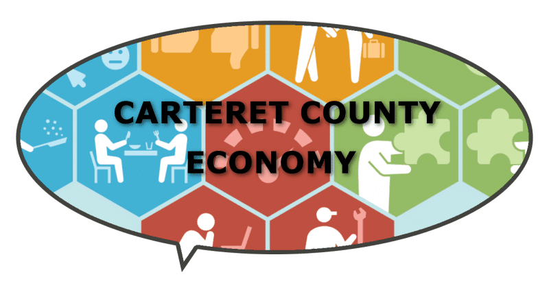 busy economy in Carteret County NC