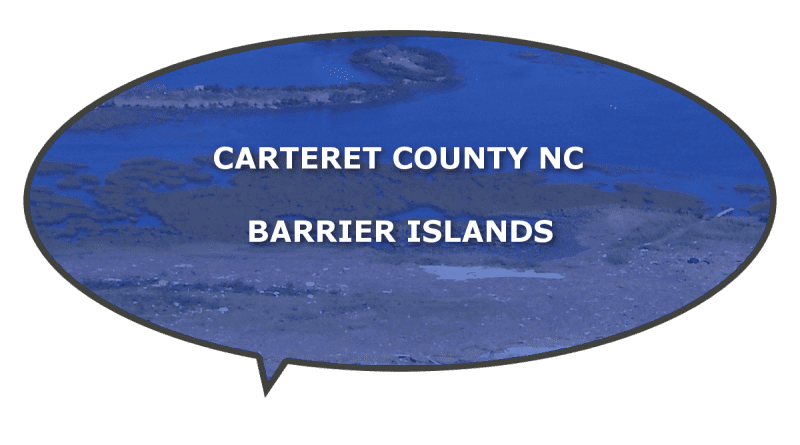 Islands that sit off Carteret County NC
