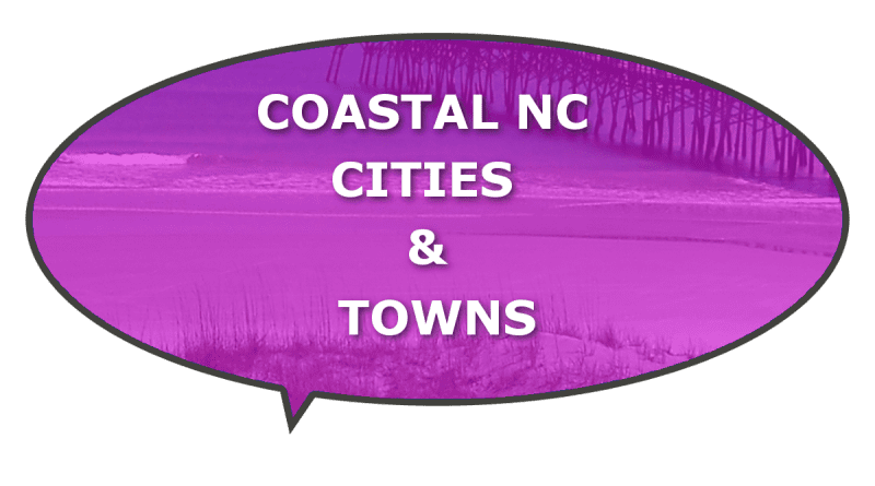 What cities are in Coastal NC?