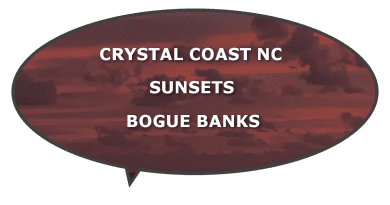 sunset views crystal bogue banks