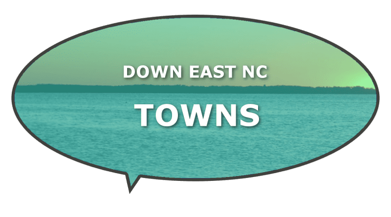 communities and towns Down East NC