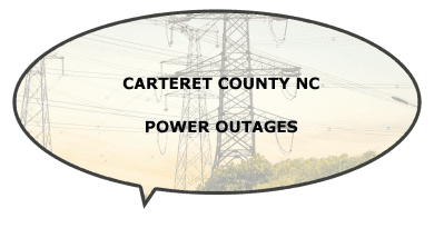 Are there electricity power outages in Carteret County NC?