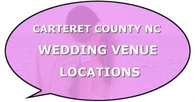 List best Carteret County wedding locations