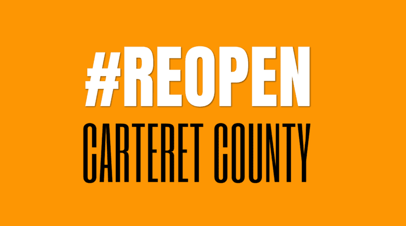 protests rally carteret county nc reopen
