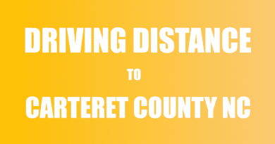 driving distance by car to Carteret NC