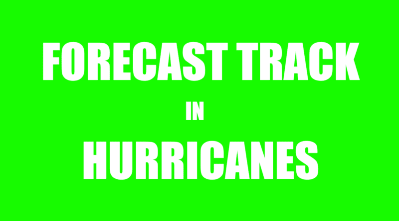 Hurricane forecast track information in gulf and Atlantic