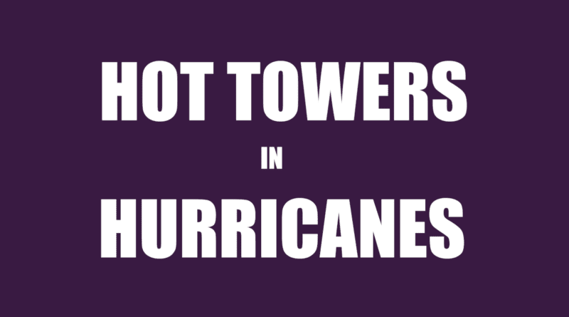 Do hurricanes have hot tower thunderstorms?
