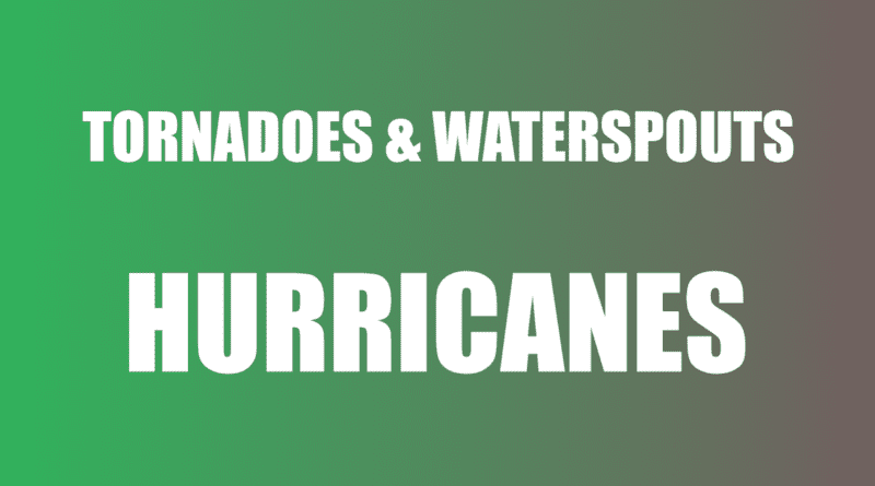 Waterspout in Hurricane tornado warning and watch