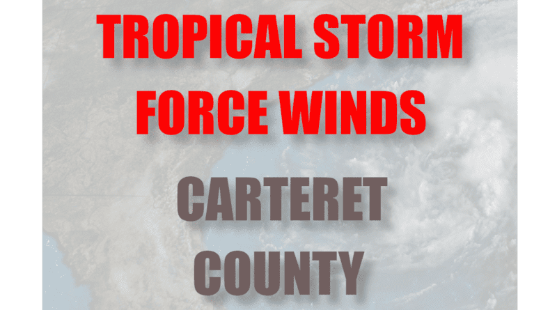 Carteret high winds from tropical claudette