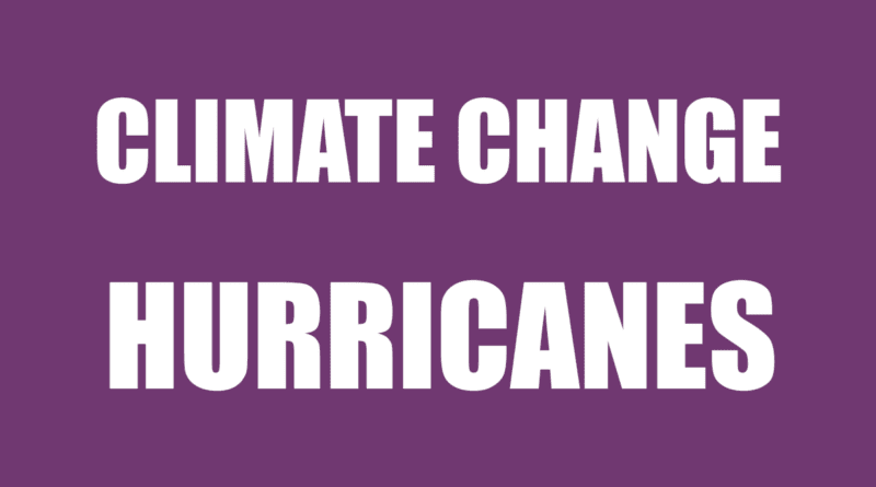 Increased hurricane activity climate warming