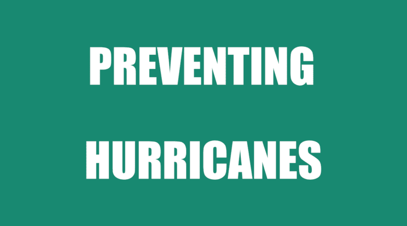 stop hurricane from forming over water